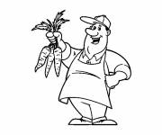Free coloring and drawings Farmer and Carrot Coloring page