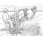 Coloring pages Farmer harvesting