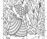 Coloring pages Farmer in the field