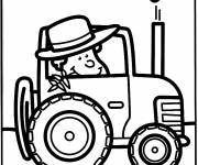 Coloring pages Farmer in the Tractor