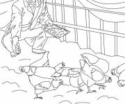 Coloring pages Farmer on his farm