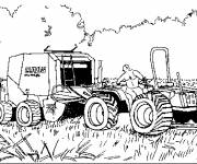 Coloring pages Forage Landscape in the Fields