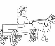 Coloring pages Traditional farmer