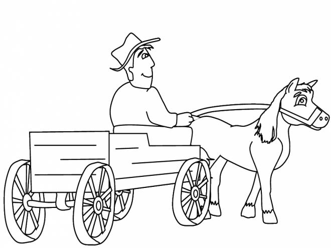 Free coloring and drawings Traditional farmer Coloring page