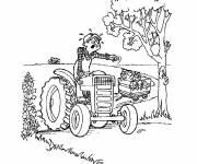 Coloring pages Unhappy farmer
