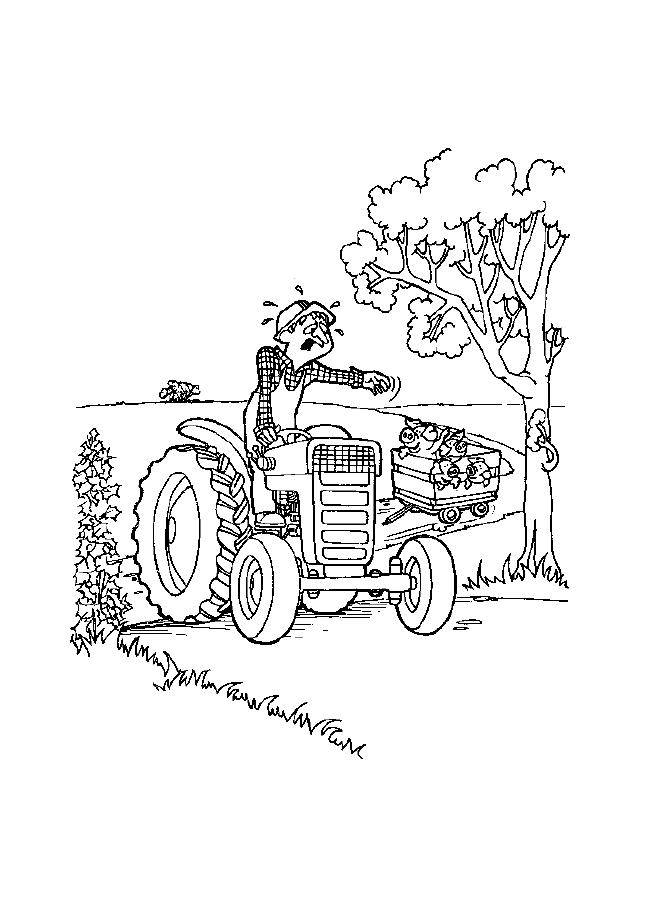 Free coloring and drawings Unhappy farmer Coloring page