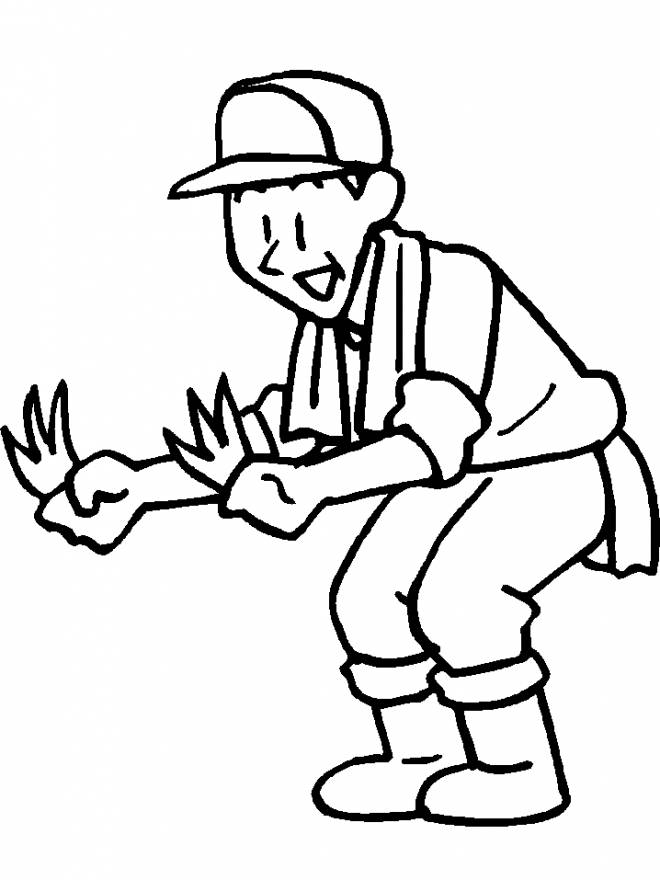 Free coloring and drawings Worker farmer Coloring page
