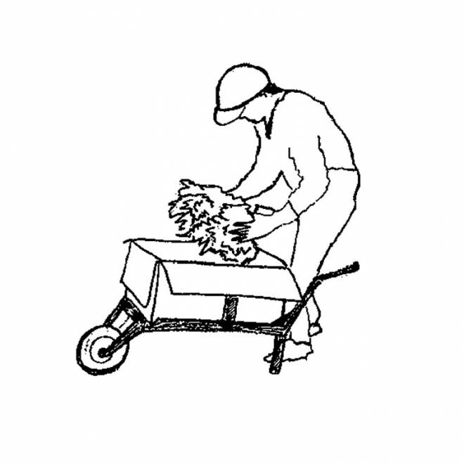 Free coloring and drawings Working farmer Coloring page