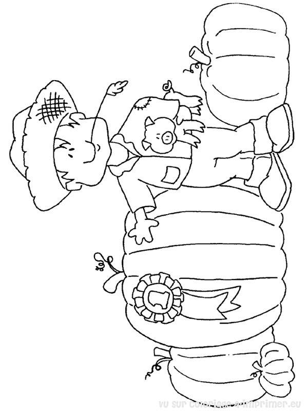 Free coloring and drawings A Peasant Autumn Season Coloring page