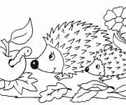 Coloring pages Animals in Autumn