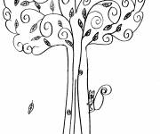 Coloring pages Autumn color trees