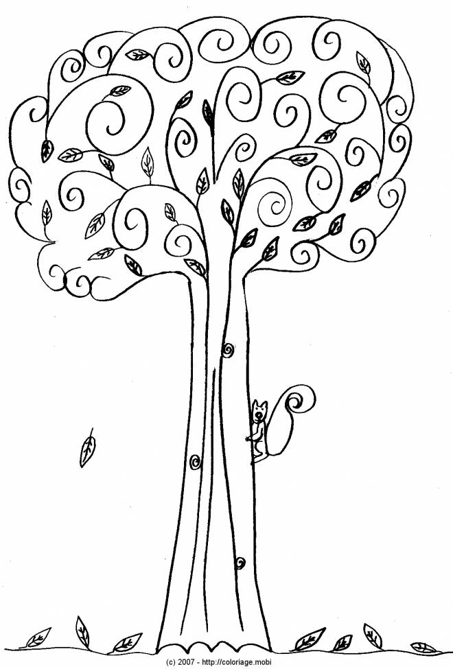Free coloring and drawings Autumn color trees Coloring page