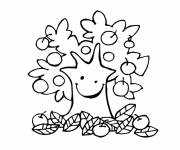 Coloring pages Autumn fruits