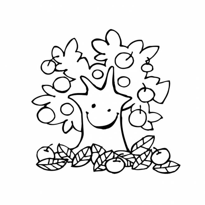 Free coloring and drawings Autumn fruits Coloring page