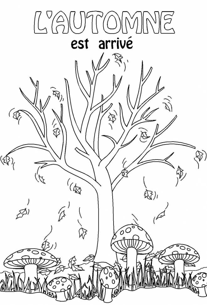 Free coloring and drawings Autumn has arrived Coloring page