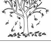 Coloring pages Color leafless tree