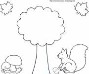 Coloring pages Easy Fall Season