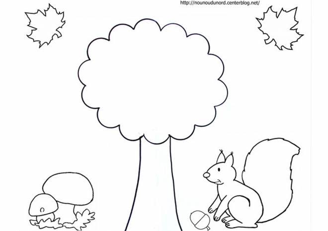 Free coloring and drawings Easy Fall Season Coloring page