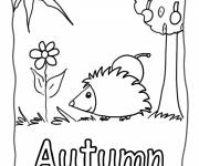Coloring pages Fall easy drawing