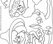 Coloring pages Fall easy to decorate