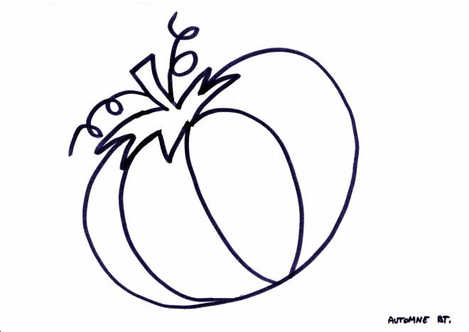 Free coloring and drawings Fall halloween Coloring page