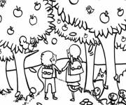 Coloring pages Fall in color