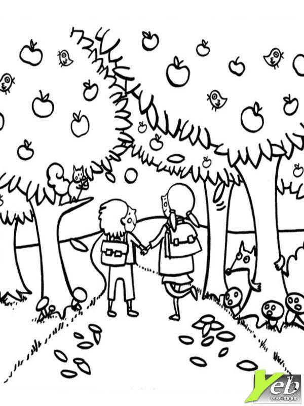 Free coloring and drawings Fall in color Coloring page