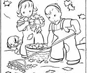 Coloring pages Fall maternal coloring