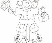 Coloring pages Fall Scarecrow