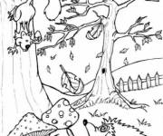 Coloring pages Fall season kids
