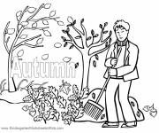 Coloring pages Garden Trees in Autumn
