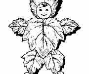 Coloring pages Leaf Child