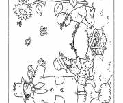 Coloring pages Nature in Autumn