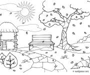 Coloring pages Park Fall