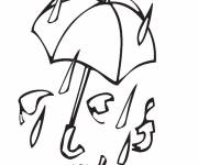Coloring pages Rain Fall