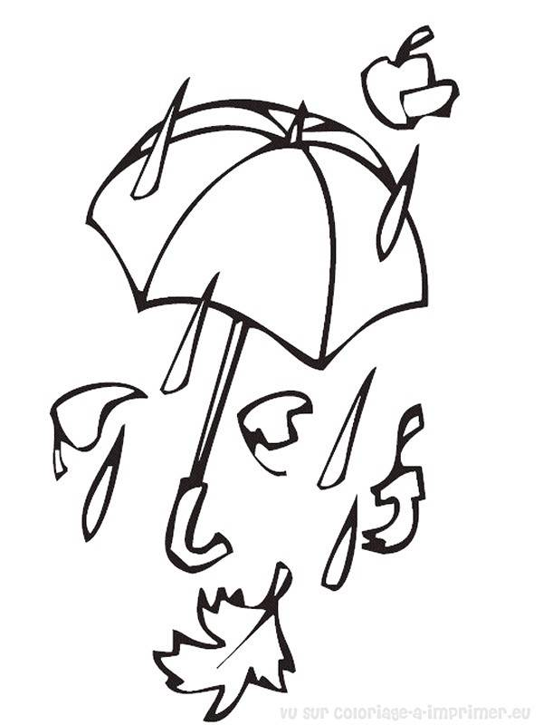 Free coloring and drawings Rain Fall Coloring page