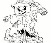 Coloring pages Scary scarecrow