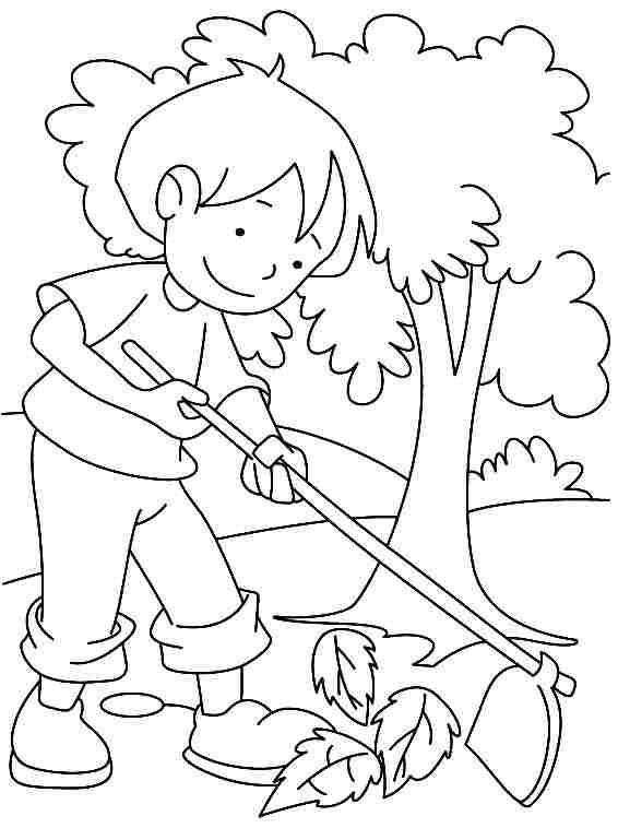 Free coloring and drawings The Girl in the Stylized Garden Coloring page