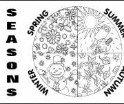 Coloring pages The seasons of the year