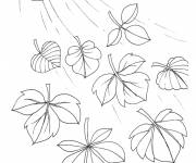 Coloring pages The Wind Blows The Leaves
