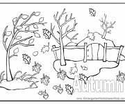 Free coloring and drawings The Wind Fall Coloring page