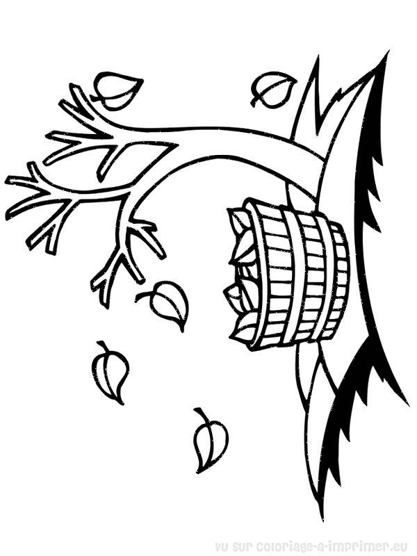 Free coloring and drawings Tree Leaves on Earth Coloring page
