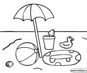Coloring pages Beach ball and toys