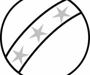Coloring pages Beach ball for decoration