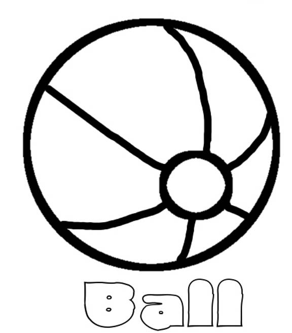 Free coloring and drawings Beach ball in black Coloring page