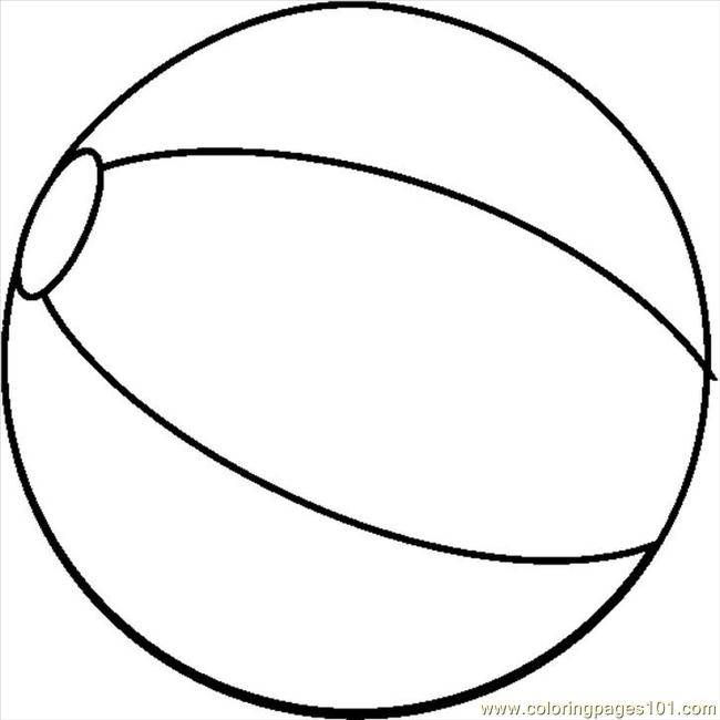 Free coloring and drawings Beach Ball to download Coloring page