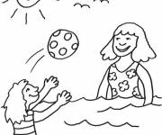 Free coloring and drawings Children having fun with Balloon Coloring page