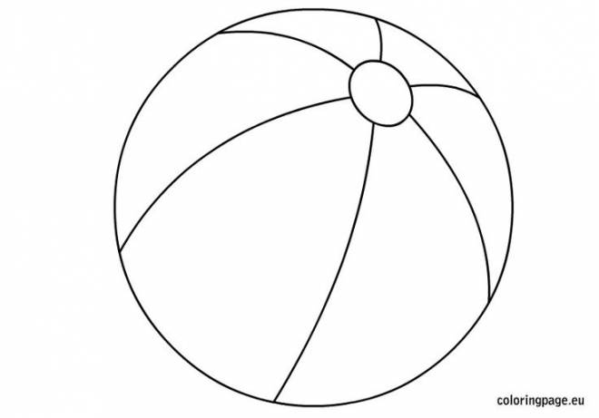 Free coloring and drawings Children's Beach Ball Coloring page