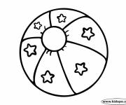 Free coloring and drawings Decorated Beach Ball Coloring page
