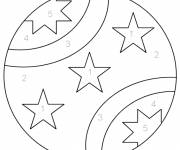 Coloring pages Numbered Beach Ball